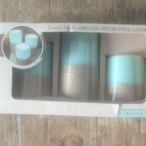 3 piece LED flameless decorative candle set